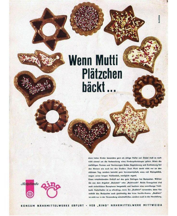 Die Marke Rotplombe deren Logo aus einer roten Plombe / einem roten Siegel welches wie das Wappen Erfurts das Rad trägt  wurde 1953 von der Firma Konsum Nährmittelwerke Erfurt eingeführt. Die Produktlinie bot Süßspeisen von Roter Grütze bis hin zum Sofix-Pudding. Bis 1990 war Rotplombe der Dr. Oetker des Ostens. . ___________________ Partnerseite: @ddr_freaks  ___________________ . #Plätzchen #backen #Weihnachten #Weihnachtsplätzchen #christmas #xmas #Cookies #Rotplombe #Konsum…