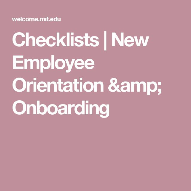 Checklists | New Employee Orientation & Onboarding