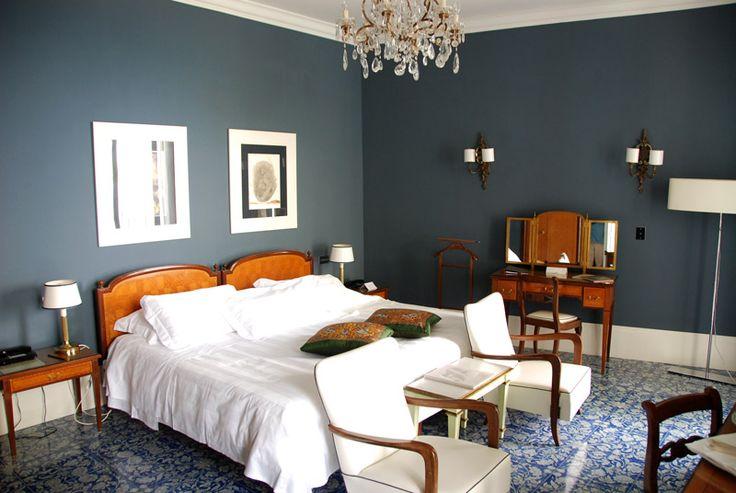 A bedroom at L'Albergo della Regina Isabella in Ischia, Italy.