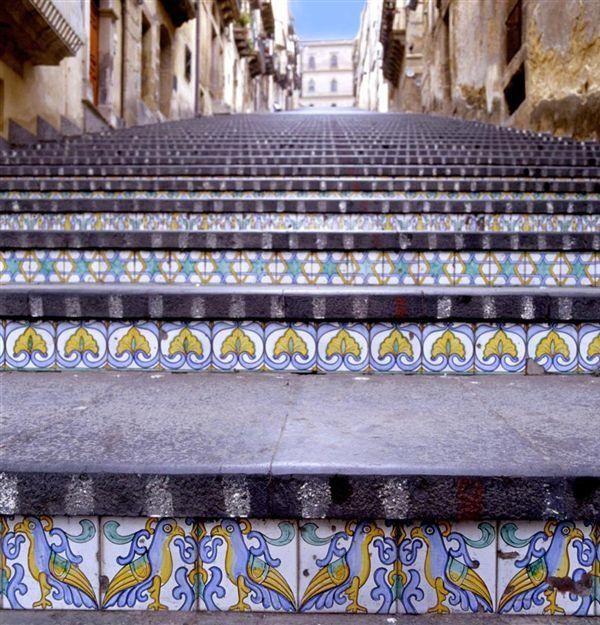 Scalinata di Santa Maria del Monte. Caltagirone. Italia