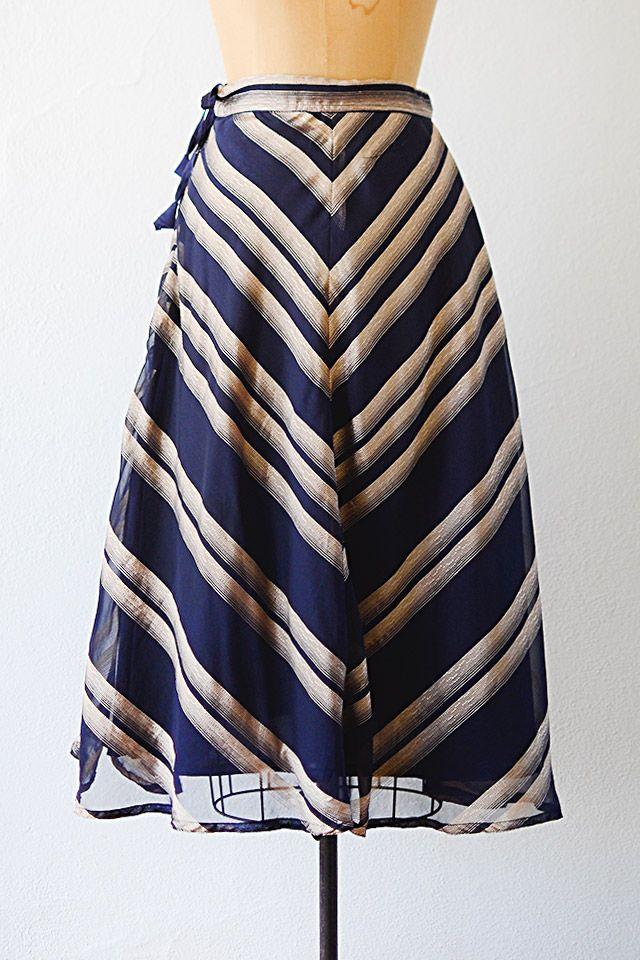 vintage 1970s skirt | chevron skirt | #vintage #1970s