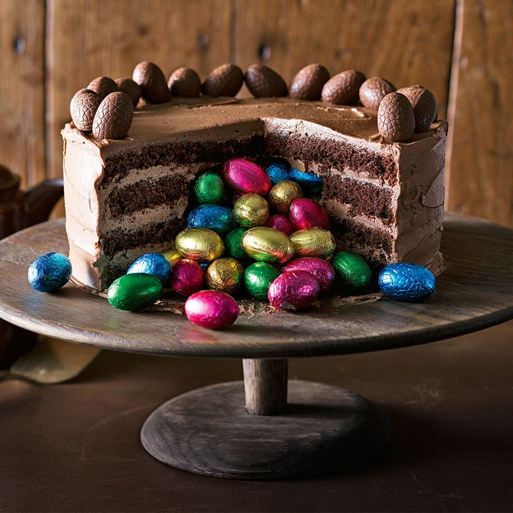Cut the cake for a special Easter surprise inside!