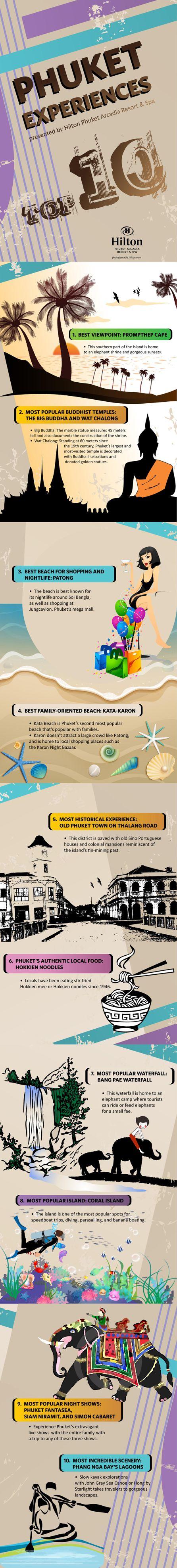 Hilton Phuket Arcadia Resort & Spa Showcases The Best Of Phuket With New Infographic     #travel #infographic