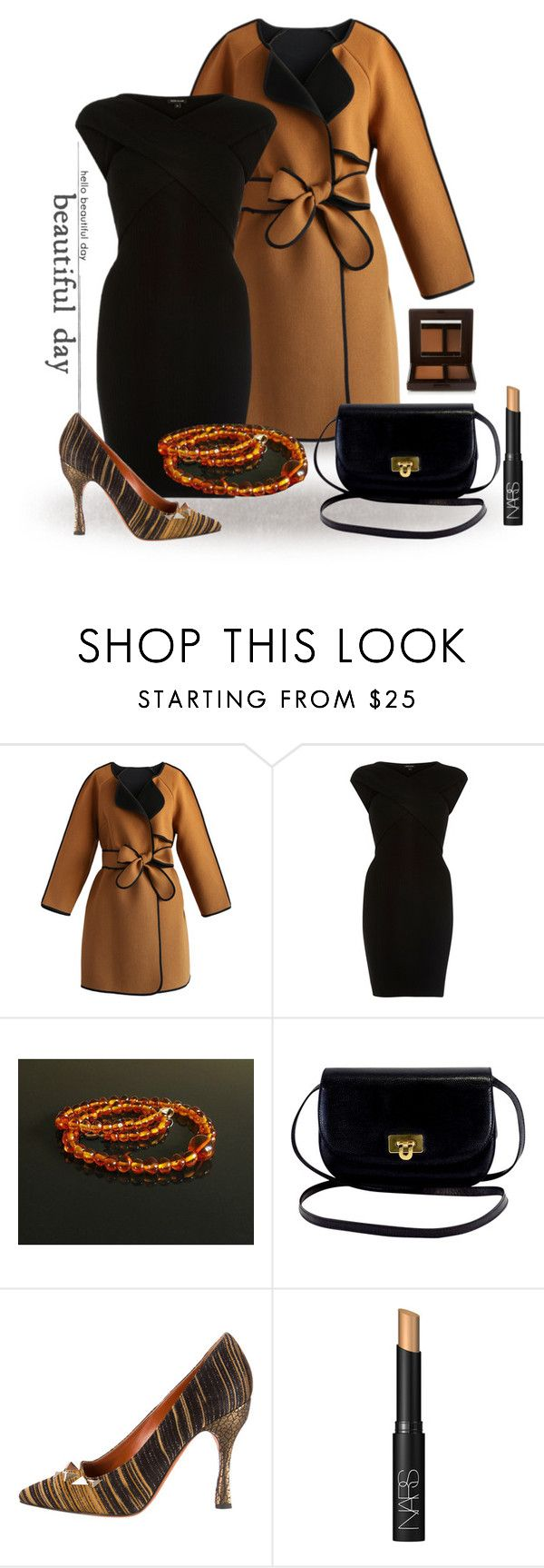 """Black & Brown"" by styledonna on Polyvore featuring moda, Chicwish, River Island, Missoni, NARS Cosmetics i Laura Mercier"