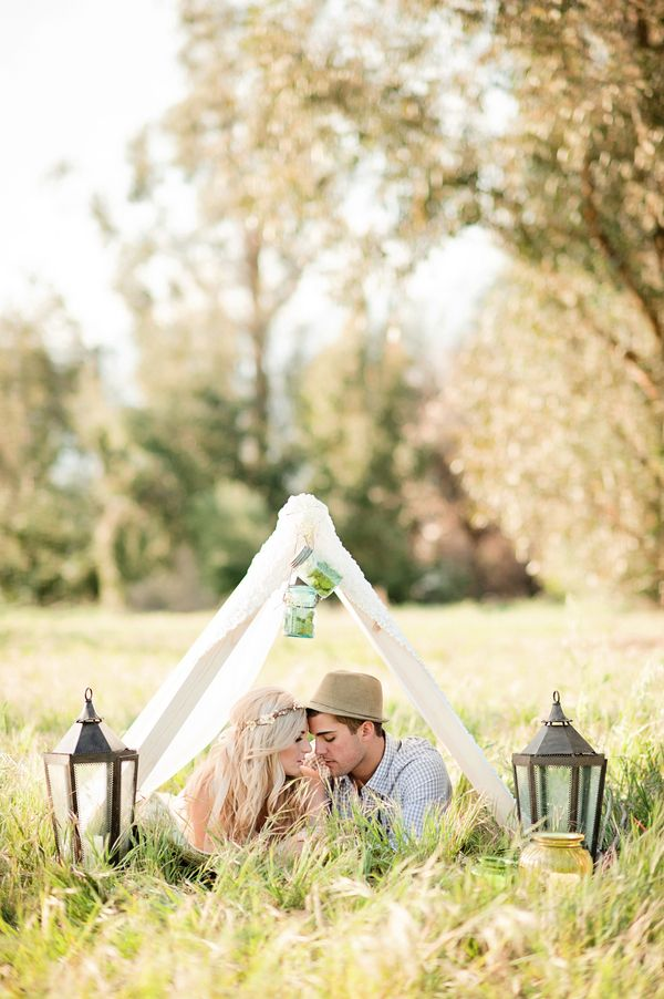 beautiful DIY boho inspiration for weddings or engagements