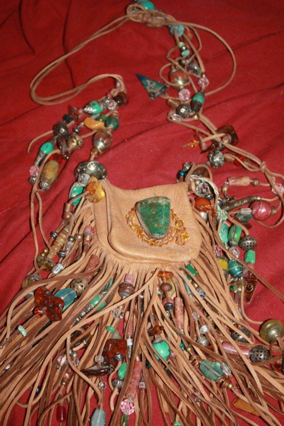 showdiva designs Medicine Bag Belt Necklace Turquiose by showdiva, $2280.00