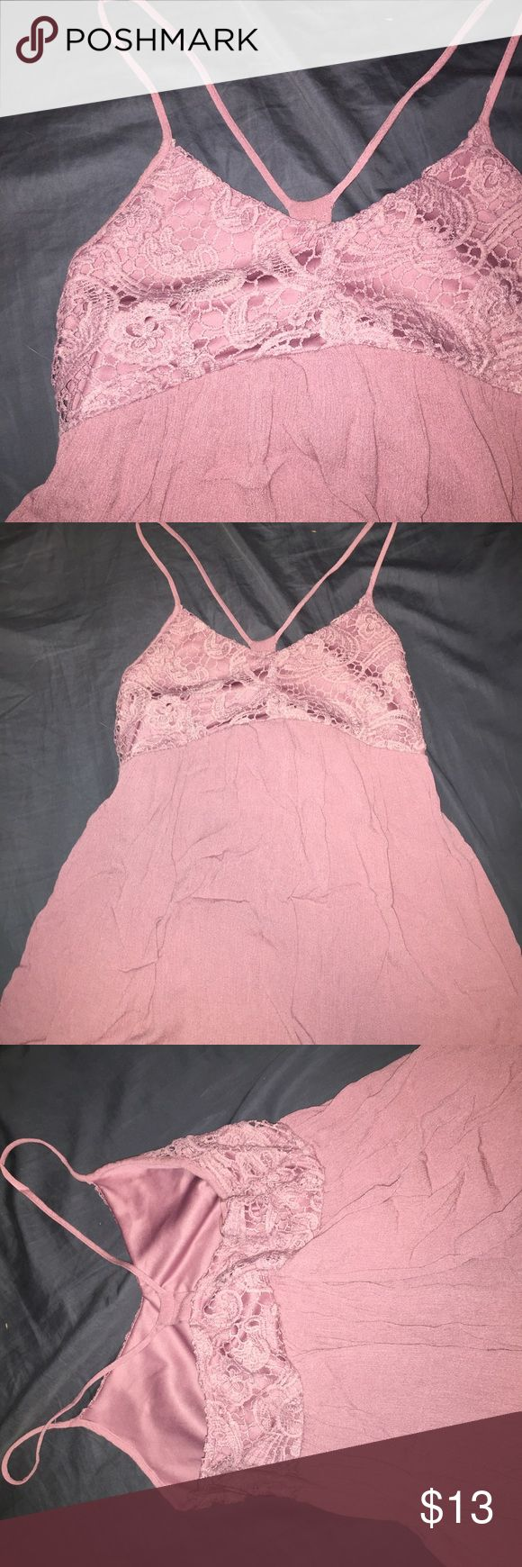 Charlotte Ruuse Sundress This is a very flowy dress! More of a purple pink. Hardly worn, and has zipper on the side. Send me an offer. Charlotte Russe Dresses Mini