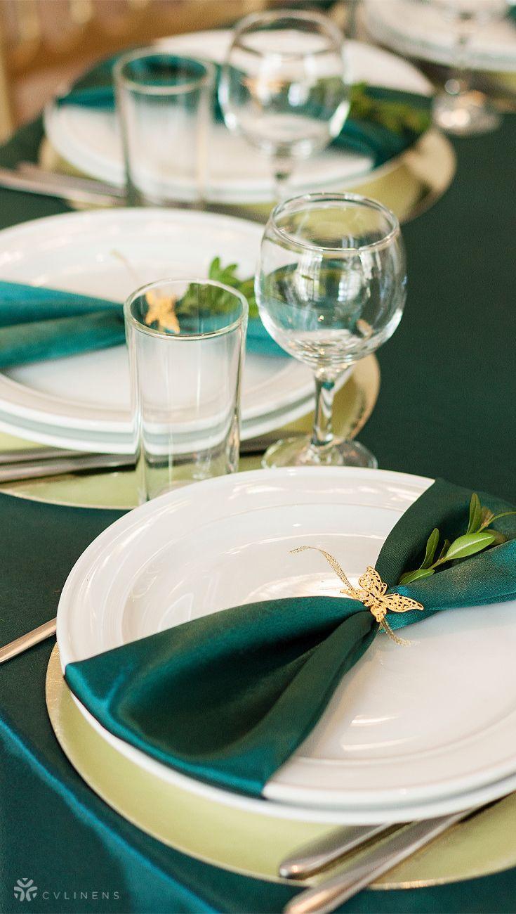 Satin Napkin 20 X20 Emerald Green In 2020 Emerald Green