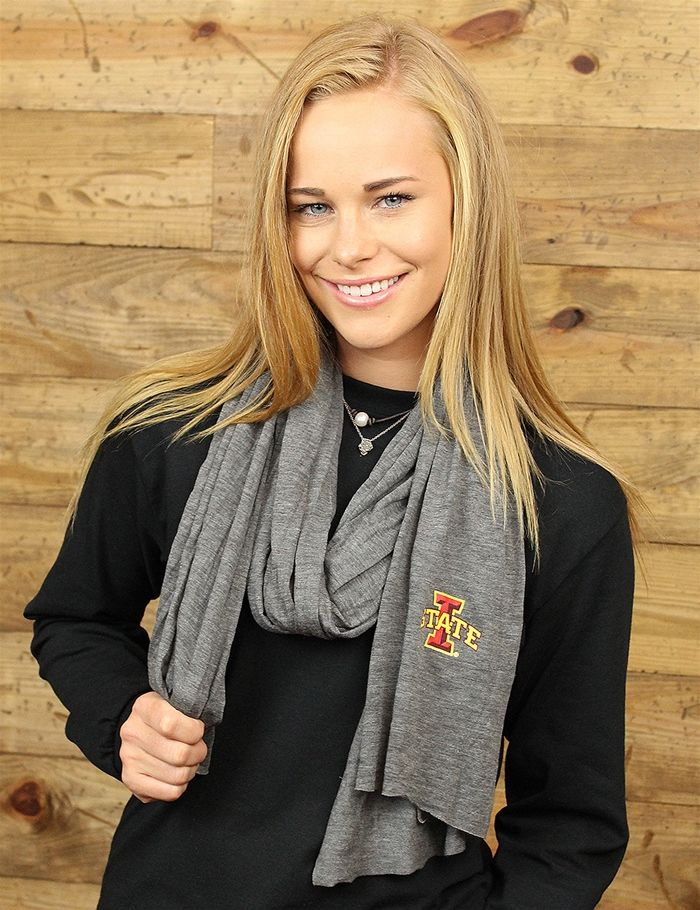 Stay cozy year-round in this endlessly versatile unisex scarf made from our soft medium-weight Eco Jersey with printed I State...GO CYCLONES