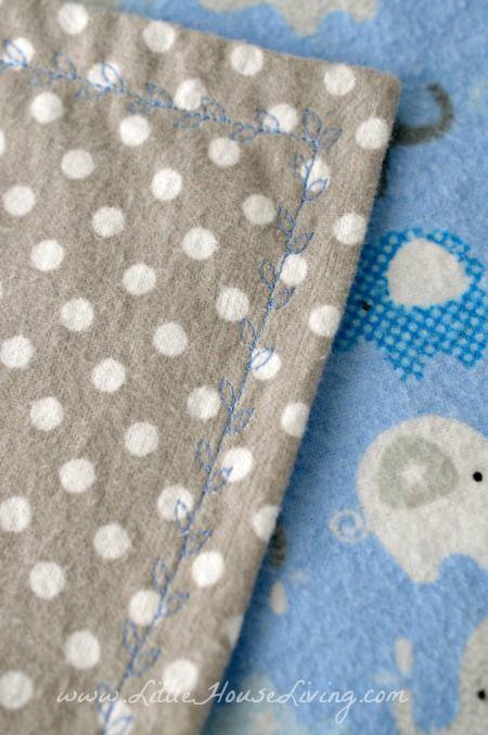 10 Minute Simple Baby Receiving Blanket Pattern Brother