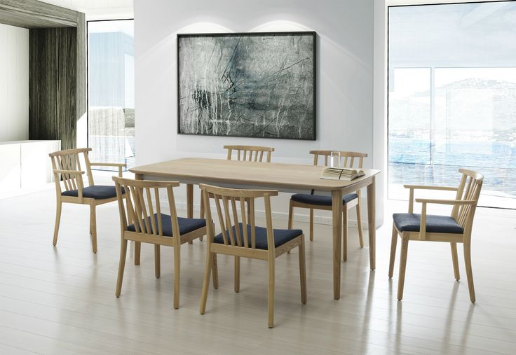 Minimalistic dining room - something less is more! T53 table from Klose collection, #KloseFurniture #moderninterior #woodentable