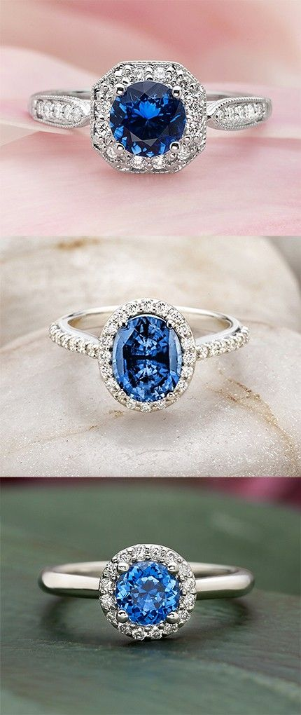 Love the unique feel of these gorgeous sapphire engagement rings.