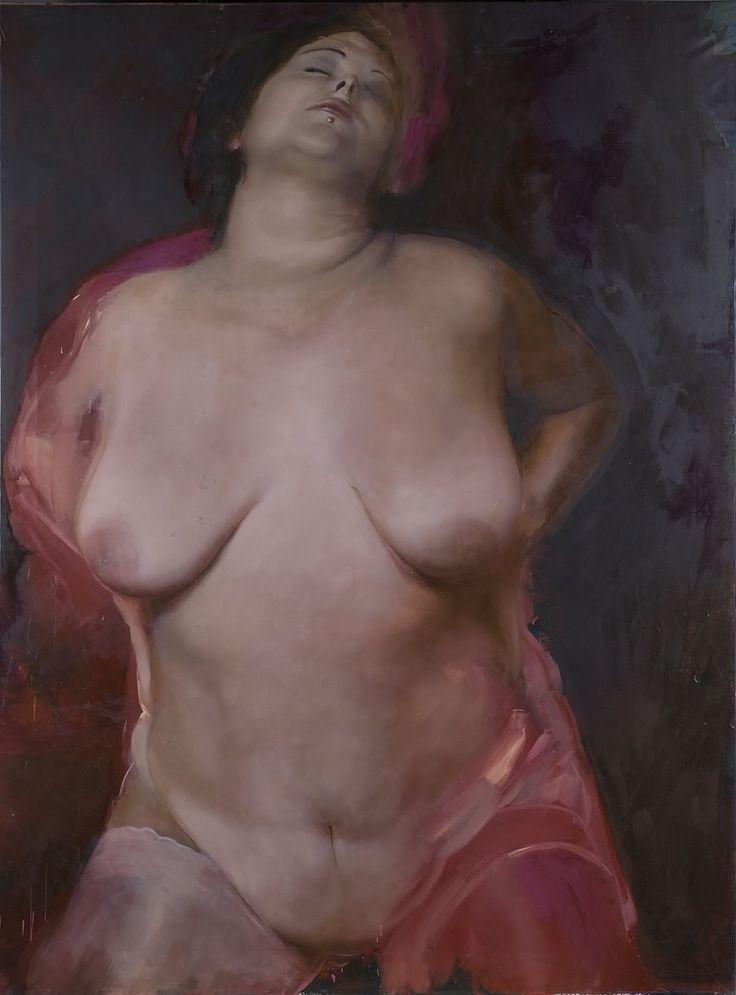 Modelo maduro femenino desnudo