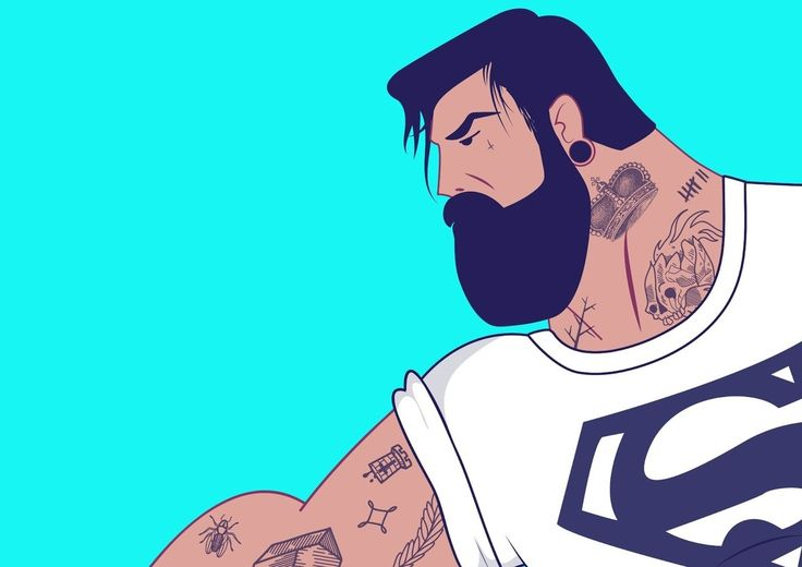 Hipster Superman
