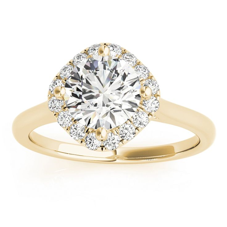 Transcendent Brilliance 14k Gold 5/8ct TDW White Diamond Square Halo Engagement Ring (F-G, VS1-VS2) (