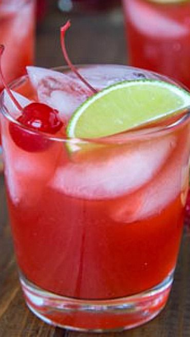 Cherry Limeade Margarita. Recipe for both alcoholic and no alcoholic versions.