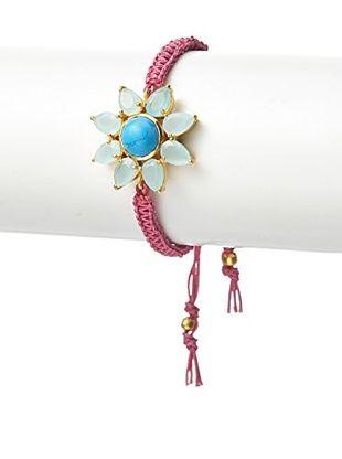 63% OFF Kanupriya Chalcedony & Turquoise Starburst Bracelet