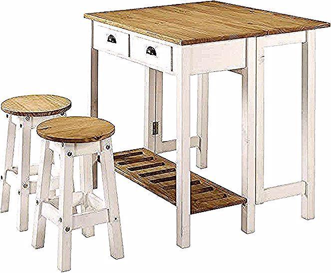 Ensemble Table Pliante 2 Tabourets En Bois Massif Sharona Coloris Blanc Vente De Ensemble Table Et Chaise Conforama In 2020 Bar Table Furniture Home Decor