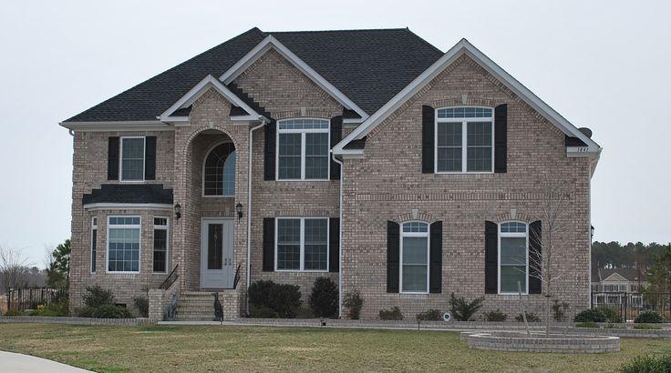 Grey brick 2stori bricks bricks homes brick homes help homeowner