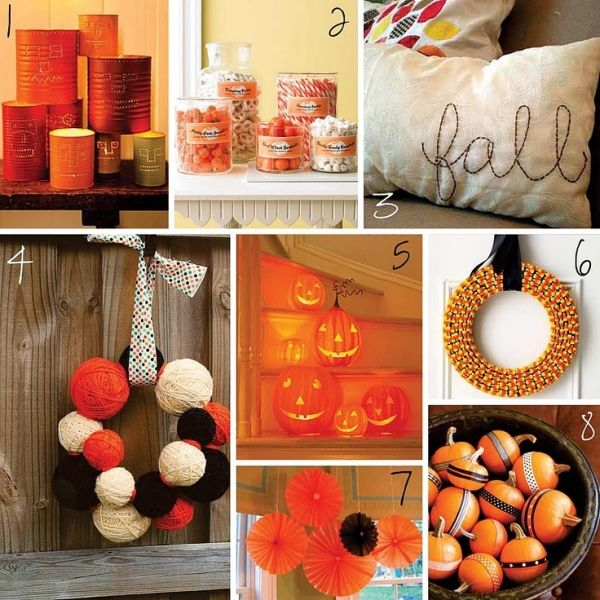 the creative place fall and halloween diy roundup love the yarn wreath - Halloween Diy Projects