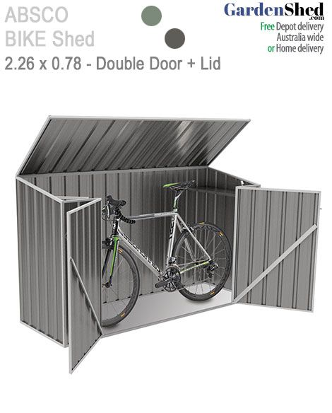 Absco Bike Shed. This is a purpose build shed for your bicycle. Easy storage and access to your bike. Keep your bike secure and safe - GardenShed.com