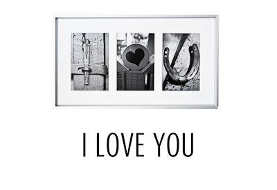 """""""I love you"""" aus Fotobuchstaben"""