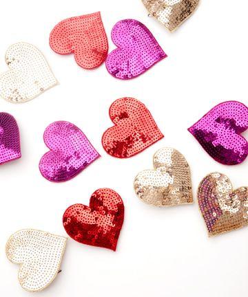 Valentine'S Day, Crafts Ideas, Minis Dog Qu, Valentine Day, Hair Clips, Saia Mini-Sequins, Sequins Heart, Bans Do Heart, Minis Heart