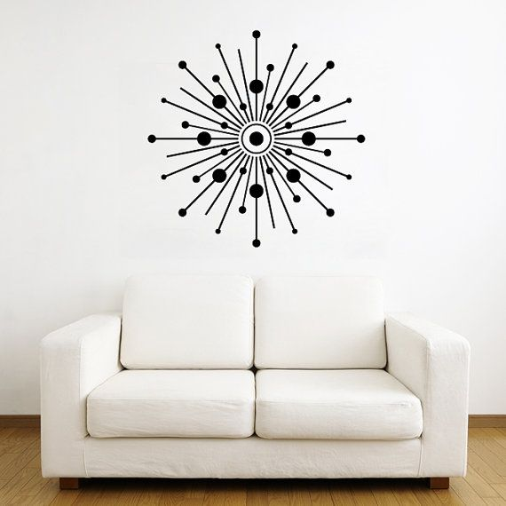 Starburst With Circles Vinyl Wall Art Decal By