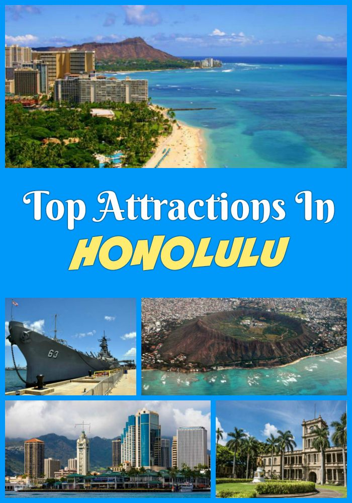 Must-see Honolulu attractions  - Waikiki Aquarium, Diamond Head, Magic Island, Pearl Harbor, USS Arizona Memorial, Bishop Museum, King Kamehameha Statue and more points of interest