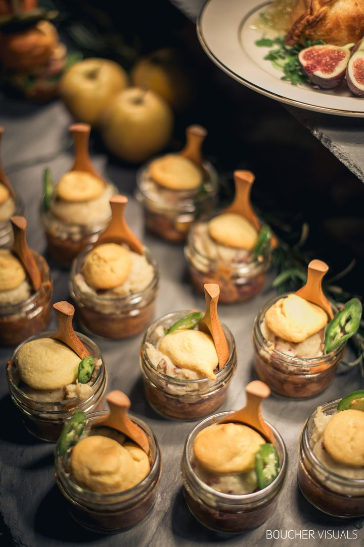 Spice of Life Catering at the Vermont Wedding Affair: Petite BBQ Pulled Pork Shepherd's Pie