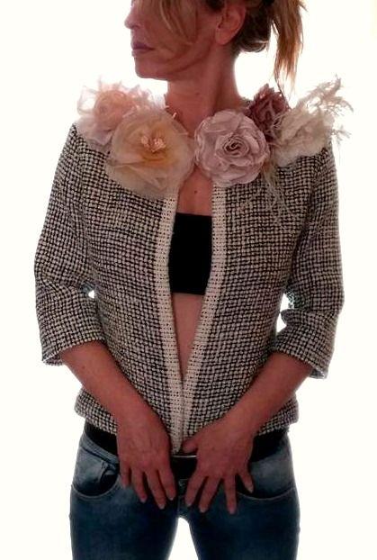 Chanel con fiori seta