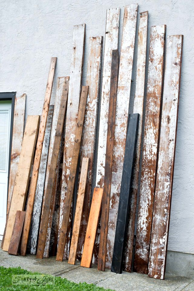 How to prep, clean and what to use to protect chippy barn wood! By Funky Junk Interiors for eBay.