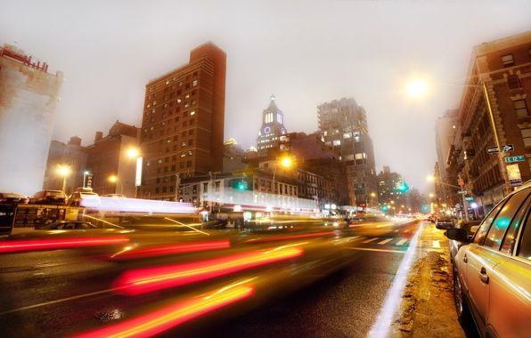 Wallpaper new york, nyc, usa, east village, 3rd avenue, night, new york, night