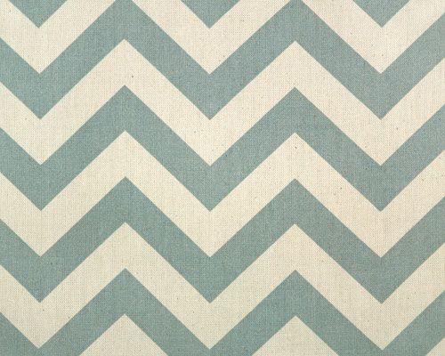 "Zig Zag  Village Blue/Natural    Pattern Information:  3 3/4"" Horizontal  1"" Zig Zag Stripes  $11.99 yd    Fabric: 100% 7 ounce Cotton"