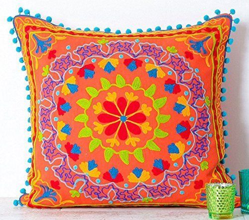 Cotton-Pillow-Cases-Suzani-Hand-Embroidery-Floral-Decorative-Cushions