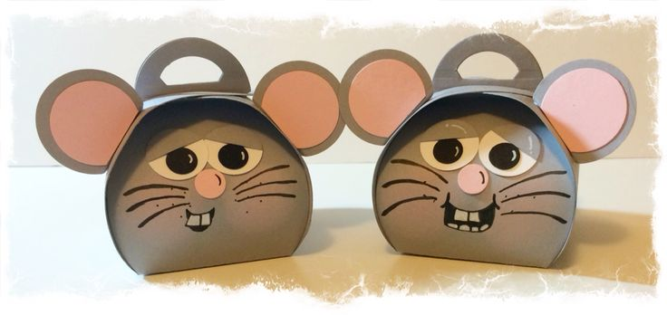 Mice CASEd from Pinterest. Design interpreted and made by Tracey Grundy - Independent Stampin' Up! Demonstrator using the Curvy Keepsakes die Characteristic mouths have been drawn on.