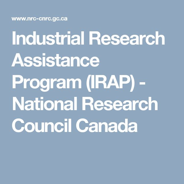 Industrial Research Assistance Program (IRAP) - National Research Council Canada