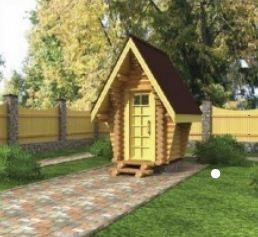 Туалет дачный деревянный.