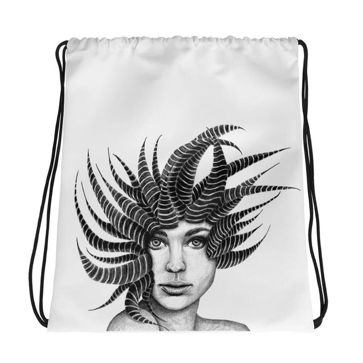 Excited to share the latest addition to my #etsy shop: Hipster backpack, Unisex backpack, Cactus print, Trend now, Bag for gym, Portrait, Drawstring backpack, Valentine, Surreal art, Illustration #bagsandpurses #white #backtoschool #valentinesday #hipsterbackpack #black #unisexbackpack #cactusprint #trendnow