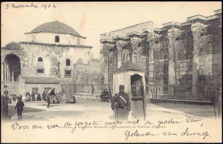 1759'da yaptırılan Mustafa Ağa Camii, Atina, Yunanistan, 1904