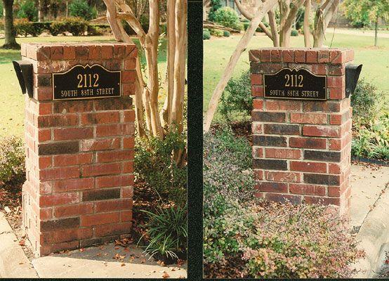 Wonderful 43 best Brick Mailboxes images on Pinterest   Mailbox ideas, Brick  FE68