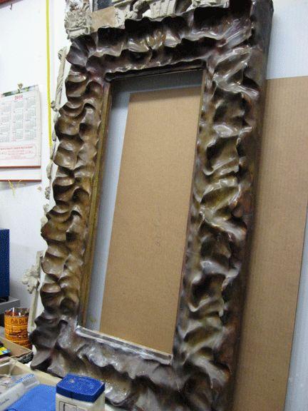 papier mache frame idea crafts pinterest. Black Bedroom Furniture Sets. Home Design Ideas