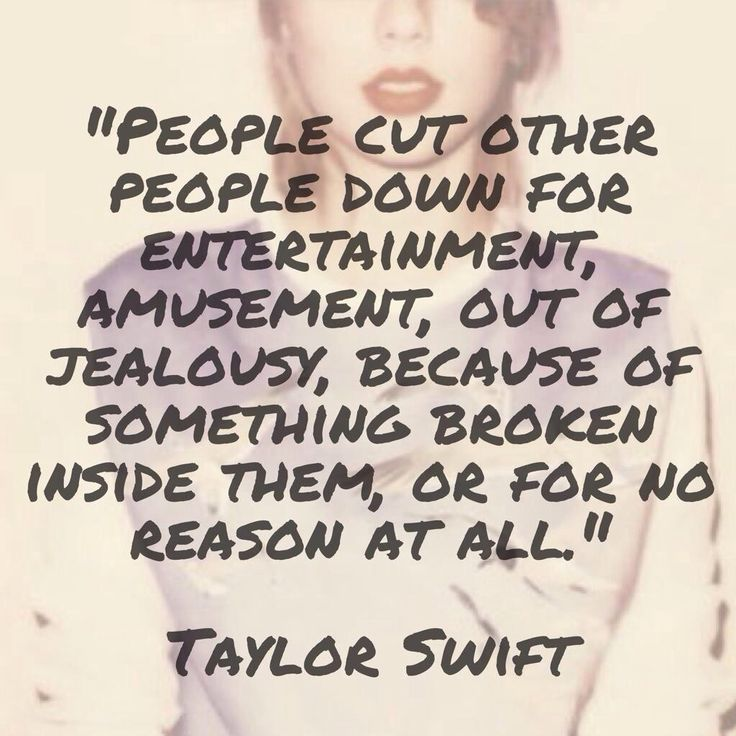 Taylor's quote (comment on IG)