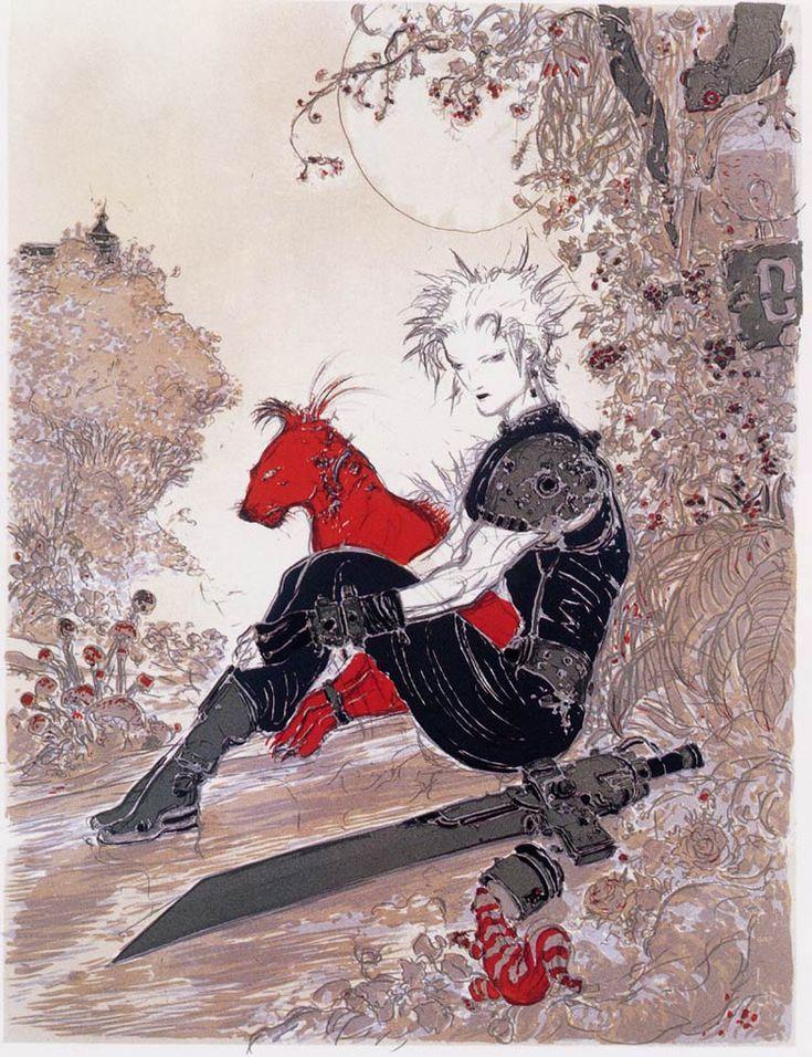 The Inspirational Artwork of Yoshitaka Amano [Cloud & Red Final Fantasy VII]