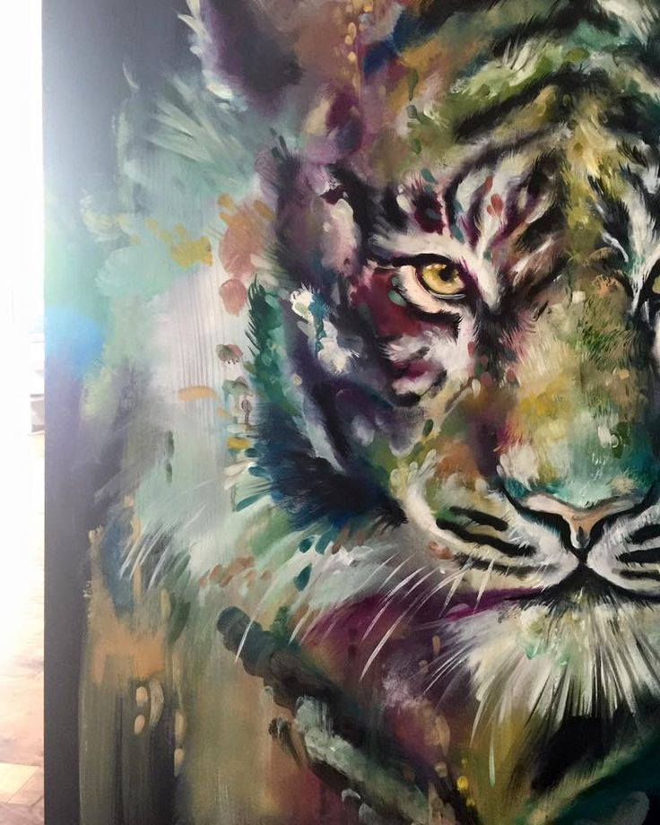 Katy Jade Dobson / Oil Painting tiger
