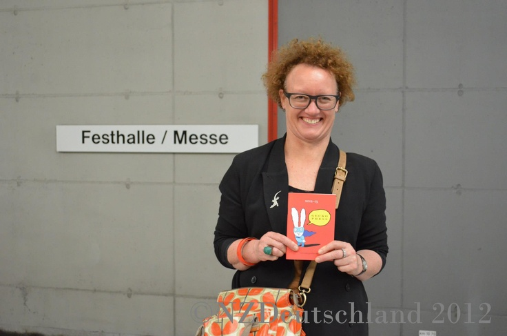 Kinderbuch-Verlegerin Julia Marshall aus Wellington in Frankfurt