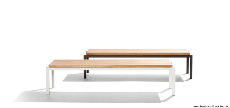 Natal Alu Teak bench - Basic collection - Bench with A-class wooden seating, frame in aluminium which is easy to handle and requires few maintenance. Suitable for hotel furniture, public places, shopping mall furniture. #contractfurniture #woodenbench