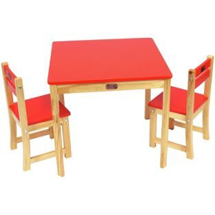 Buy Liberty House Toys TikkTokk Boss Table and Chair Set Red at Argos.co.uk, visit Argos.co.uk to shop online for Children's tables and chairs