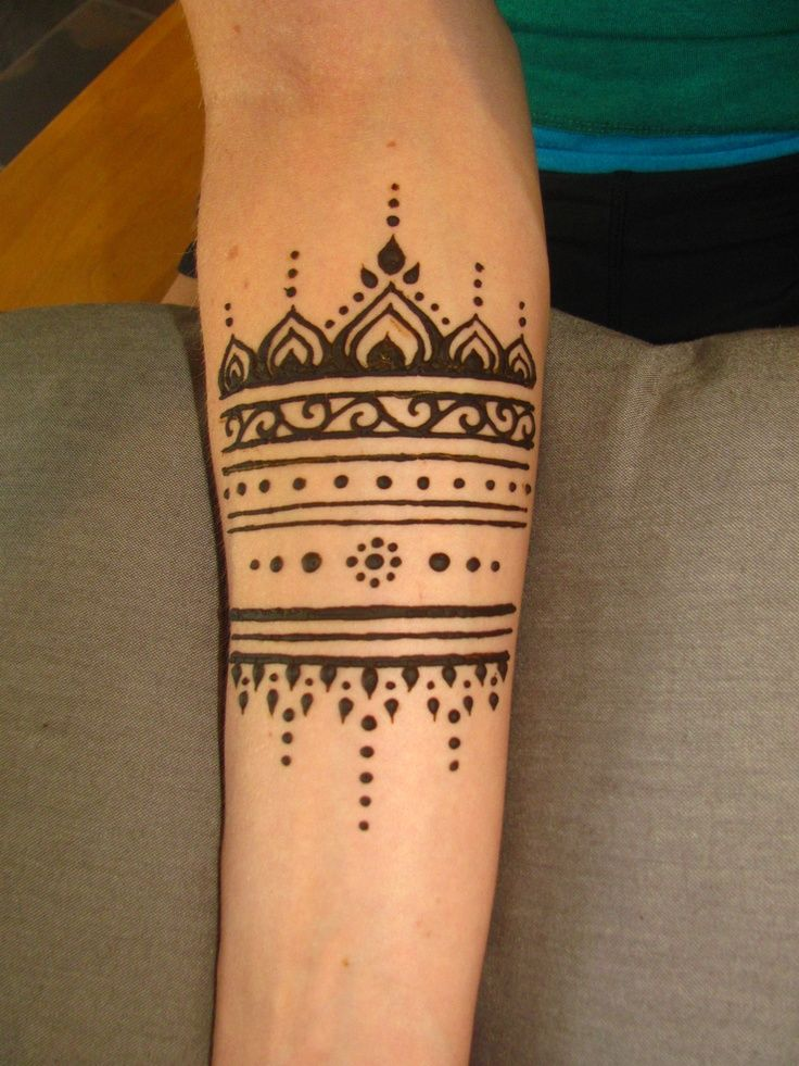 Gorgeous simple arm henna tattoo
