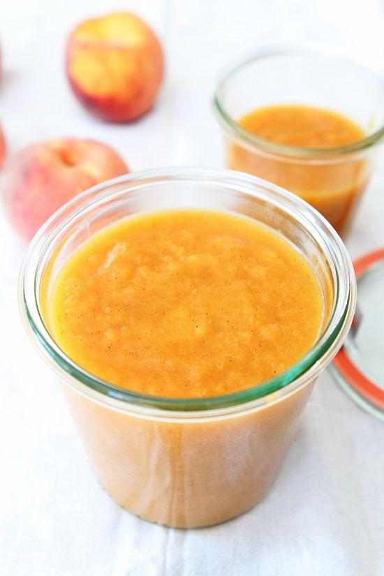 Easy Homemade Peach Butter Recipe on twopeasandtheirpod ...